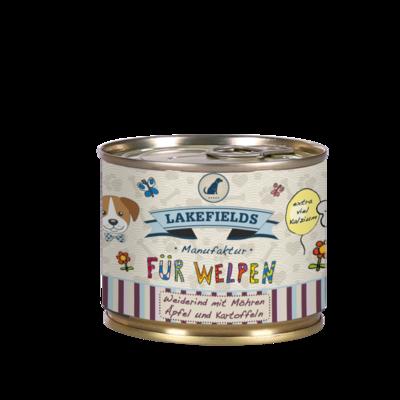 Lakefields Dosenfleisch-Menü Rind für Welpen