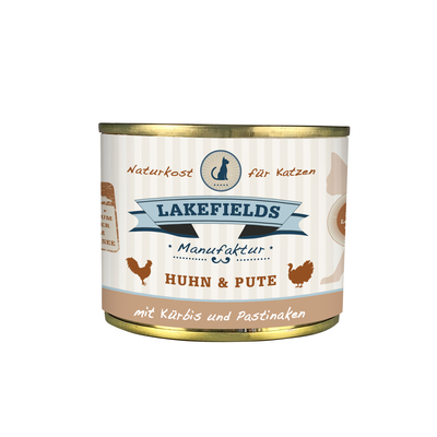 Lakefields Katzenfutter Dose Huhn und Pute
