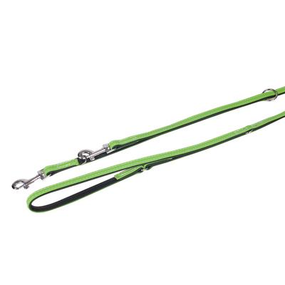 Lederführleine 5 Collar für Hunde, kiwi - L: 200 cm B: 14 mm