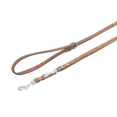 Lederführleine Cork für Hunde, kastanie - L: 200 cm B: 18 mm
