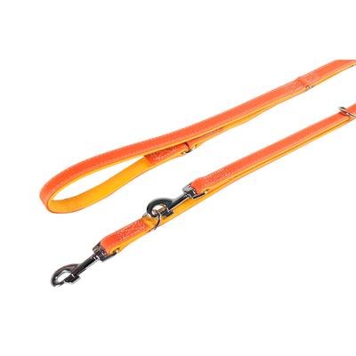 Lederführleine Liwa für Hunde, orange-gelb , L: 200 cm B: 14 mm