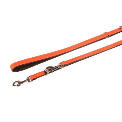 Lederführleine Vintage für Hunde, mandarine - L: 200 cm B: 14 mm