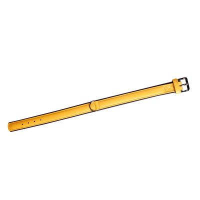 Lederhalsband 5 Collar für Hunde, gelb - L: 50 cm B: 30 mm (Verstellbarkeit Hals: 39 - 45 cm)