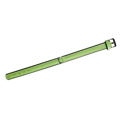 Lederhalsband 5 Collar für Hunde, kiwi - L: 60 cm B: 40 mm (Verstellbarkeit Hals: 47 - 53 cm)