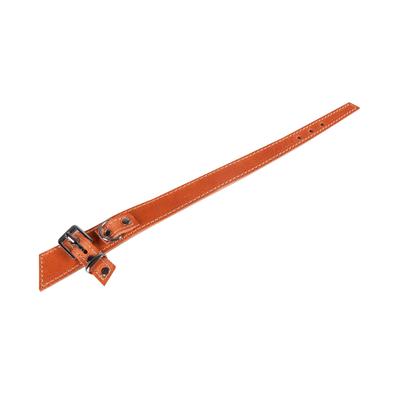 Lederhalsband BowTie für Hunde, whiskey - L: 55 cm B: 30 mm (Verstellbarkeit Hals: 43 - 49 cm)