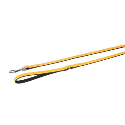 Lederleine 5 Collar für Hunde, gelb - L: 100 cm B: 18 mm