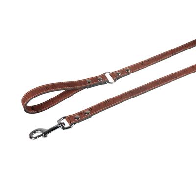 Lederleine Cork für Hunde, kastanie - L: 110 cm B: 12 mm