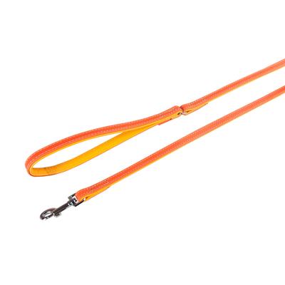 Lederleine Liwa für Hunde, orange-gelb , L: 100 cm B: 18 mm