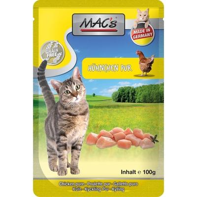 MACs Cat Pouch Pack Frischebeutel, Hähnchen pur mit Kräutermix, 12x100g