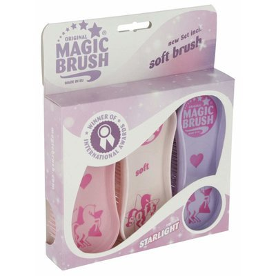 MagicBrush Pferdebürsten Set mit Soft Brush