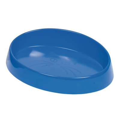 Melamin Katzennapf oval, L: 20 x 15 cm, 280 ml, blau