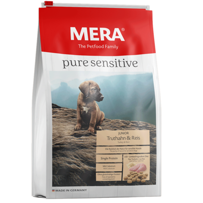 Mera Dog Pure Sensitive Junior Truthahn & Reis