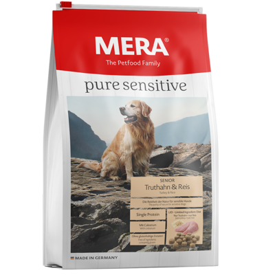 Mera Dog Pure Sensitive Senior Truthahn & Reis Hundefutter