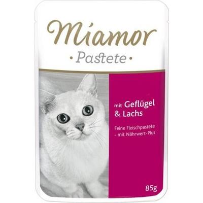 Miamor Pastete, Geflügel & Lachs 24x85g im Portionsbeutel