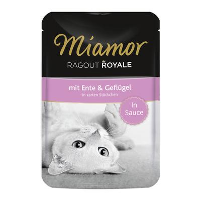 Miamor Ragout Royale in Soße Katzenfutter, Ente & Geflügel 22x100g