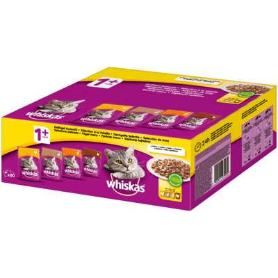 Whiskas Multipack Portionsbeutel 1+ Geflügelauswahl