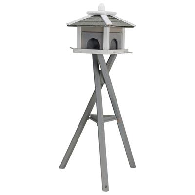 Natura Futterhaus mit Ständer grau weiß