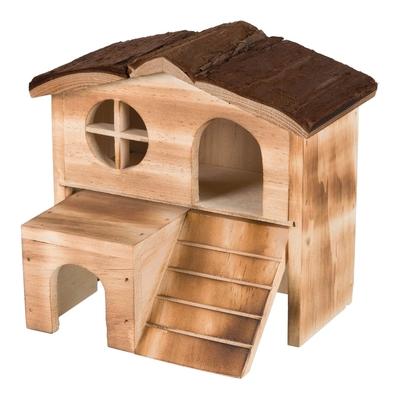 Natural Living Kleintier Haus Kajsa Holz geflammt