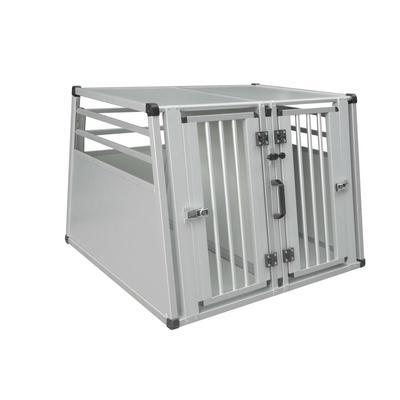 Nobby Aluminium Hundebox Auto, Doppelbox, B x T x H: 92 x 88 x 68 cm