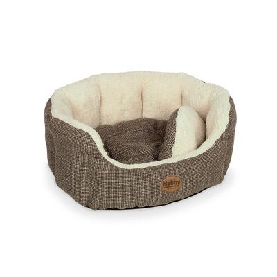 Nobby Hundebett ALBA oval, L x B x H: 86 x 70 x 24 cm, braun