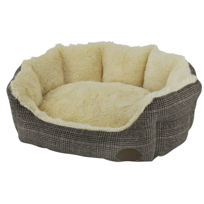 Nobby Hundebett oval OTI, L x B x H: 86 x 70 x 24 cm, braun