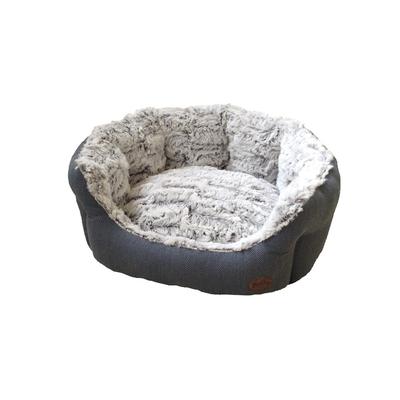 Nobby Komfort Haustier Bett oval CACHO, L x B x H: 55 x 50 x 21 cm, graublau