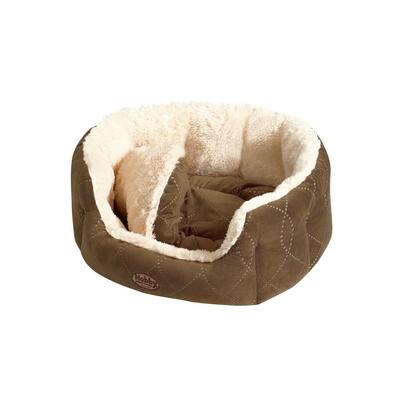 Nobby Komfortbett für Hunde und Katzen Ceno, L x B x H: 65 x 57 x 22 cm, beige braun