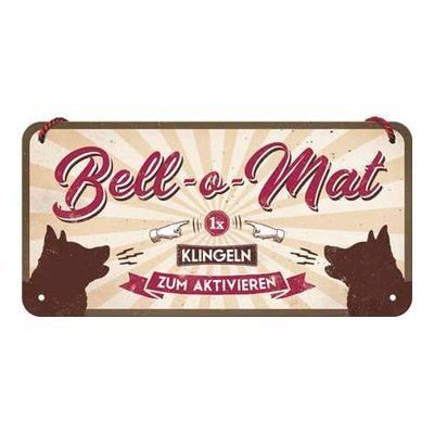 Nostalgic-Art Bell-o-Mat, Hängeschild