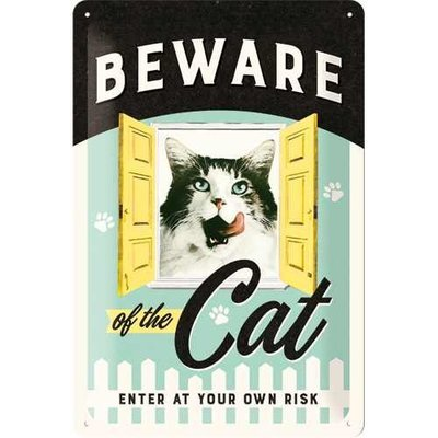 Nostalgic-Art Beware of the Cat, Blechschild