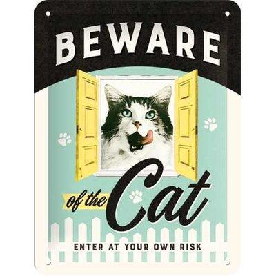 Nostalgic-Art Beware of the Cat, Blechschild Preview Image