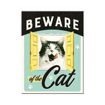Nostalgic-Art Beware of the Cat, Magnet
