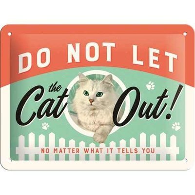 Nostalgic-Art Do Not Let The Cat Out, Blechschild Preview Image