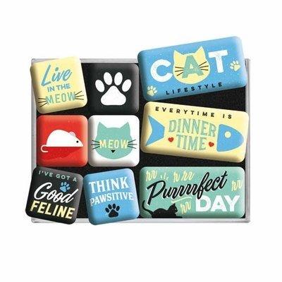 Nostalgic-Art Magnet Set Cat Lifestyle Preview Image