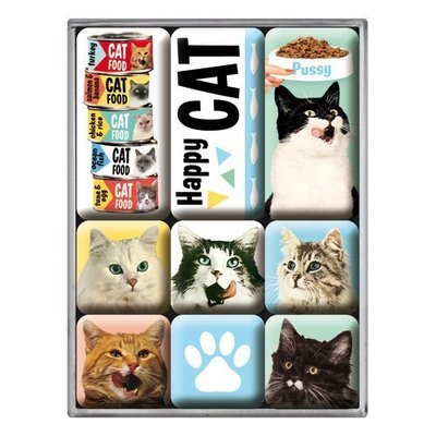 Nostalgic-Art Magnet-Set Happy Cats