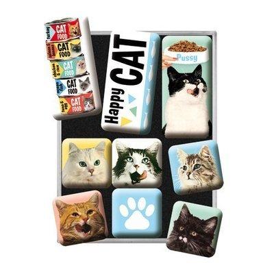 Nostalgic-Art Magnet-Set Happy Cats Preview Image