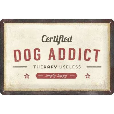 Nostalgic-Art Dog Addict, Blechschild Preview Image