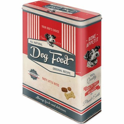 Nostalgic-Art Dog Food, Futterbehälter aus Metall