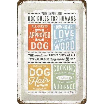 Nostalgic-Art Dog Rules, Blechschild Preview Image