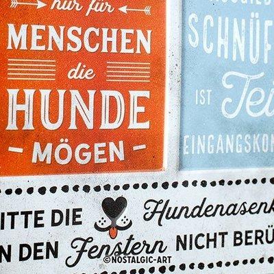 Nostalgic-Art Hunde-Haushalt Regeln, Blechschild Preview Image