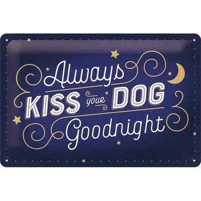 Nostalgic-Art Kiss Your Dog, Blechschild Preview Image