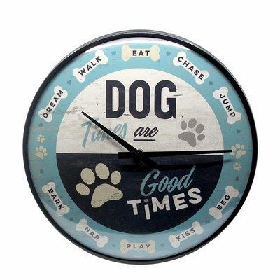 Nostalgic-Art Wanduhr Dog Times