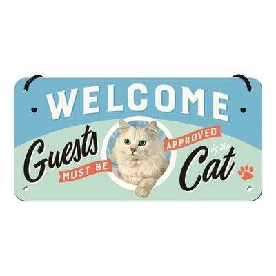 Nostalgic-Art Welcome Guests Cat, Hängeschild