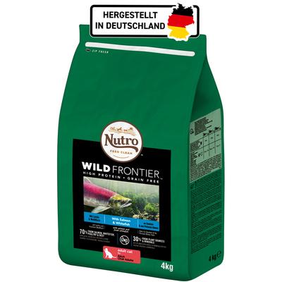 Nutro Trockenfutter Wild Frontier Lachs und Weißfisch für Katzen, 4 kg
