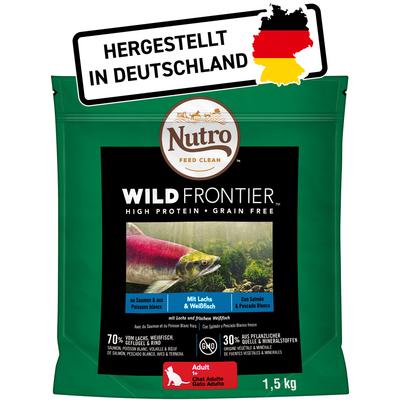Nutro Trockenfutter Wild Frontier Lachs und Weißfisch für Katzen, 1,5 kg