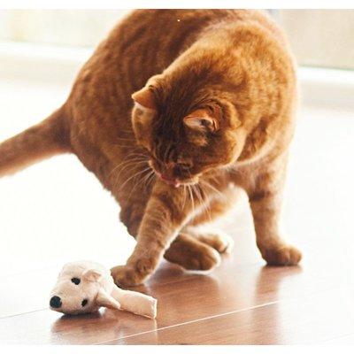 f/ür Katzen Filzmaus orange mit Baldrian