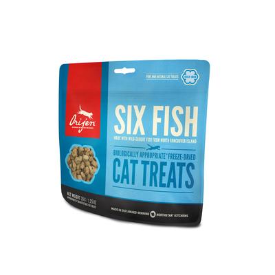 Orijen gefriergetrocknete Katzen Leckerli, Six Fish Cat 35g