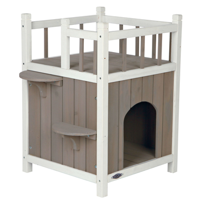 TRIXIE Outdoor Katzenhaus Cat's Home mit Balkon