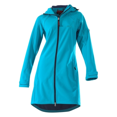 Owney Softshell Damen Mantel City Hiker, 3XL, aqua