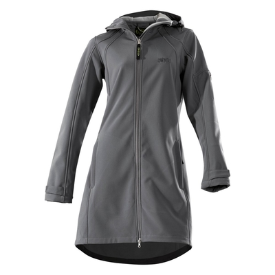 Owney Softshell Damen Mantel City Hiker, XL, anthrazit