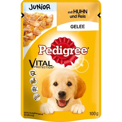 Pedigree Junior - Huhn und Reis im Portionsbeutel